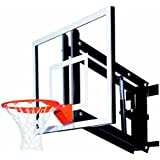 Goalsetter GS48 Wall Mounted Adjustable Basketball System with 48-Inch Glass Backboard and Flex Rim