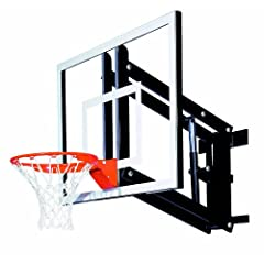 Goalsetter GS48 Wall Mounted Adjustable Basketball System with 48-Inch Glass... by Goalsetter