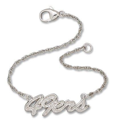 San Francisco 49ers NFL Sterling Silver Script Bracelet