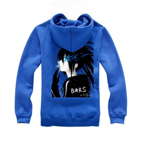 BRS Black Rock Shooter Cosplay Costume Anime Blue Hoodie Size L