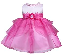 KID Collection Baby-Girls Ruffle Tiered Dress 18M Lg Pink Fuchsia (Kid B802)
