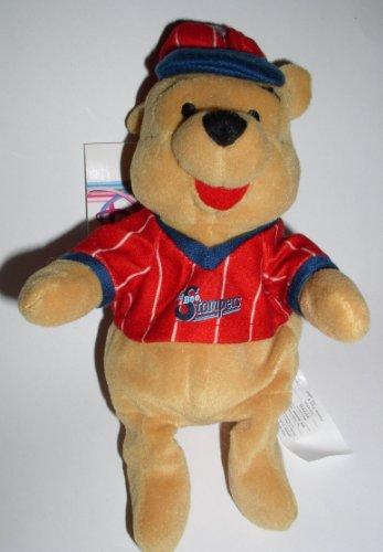 """Disney Bean Bag Plush Baseball Pooh 8"""" - 1"""