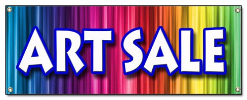 ART SALE BANNER SIGN artist paint brush supplies supply canvas artwork signs