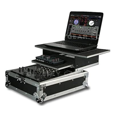"Odyssey FZGS12MIX Dual Glide-Style ATA 12"" DJ Mixer Flight Case With Dual Sliding Laptop Shelf"