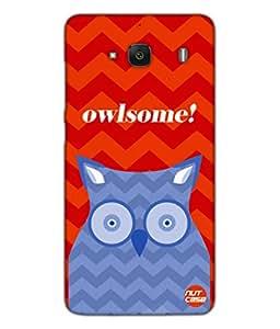 Designer Xiaomi Redmi 2 Case Cover Nutcase-Owlsome Owl