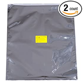 "EMP Cover EMP Bag Kit - Jumbo 23""x24"" Two Pack: 80x More Faraday Cage Shielding for Electronics"