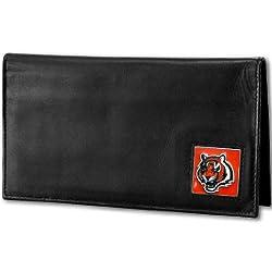 NFL Cincinnati Bengals Deluxe Leather Checkbook Cover