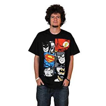 Justice League - Men At Work T-Shirt - Black - S