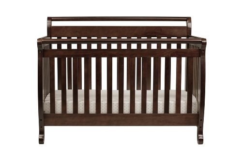 Lowest Price! DaVinci Emily 4 in 1 Convertible Crib with Toddler Rail, Espresso