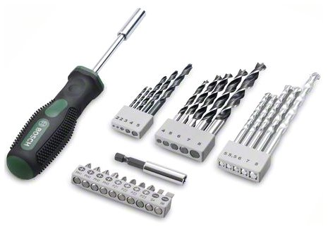 bosch 27pcs drill bit and screwdriver set 936 rs mrp 936 a leading. Black Bedroom Furniture Sets. Home Design Ideas