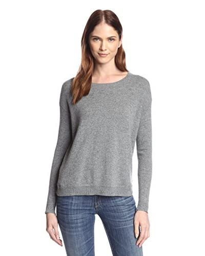Kier & J Women's Relaxed Sweater with Back Zip