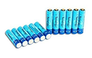 12 Tenergy 2600mAh AA 1.2V NiMH Rechargeable Batteries