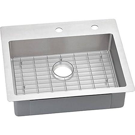 Elkay ECTSRAD25226BGFR2 18-Gauge Stainless Steel 25-Inch  x 22-Inch x 6-Inch  Single Bowl Kitchen Sink, Polished Satin