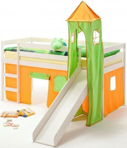 banukome lit sur lev chambre enfant lasur blanc. Black Bedroom Furniture Sets. Home Design Ideas