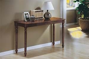 Monarch Specialties Sofa Table, Dark Oak