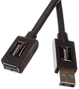 AmazonBasics USB 3.0 A-Male to A-Female Extension Cable 9.8 Feet / 3.0 m