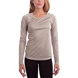 Vapor Apparel Women\'s Solar Performance UPF Shirt Long Sleeve Medium Athletic Grey