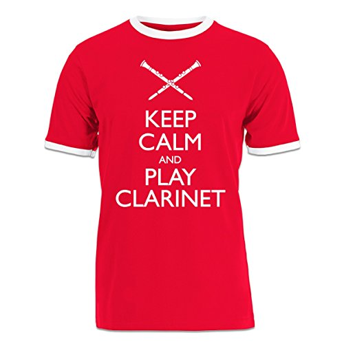 Camiseta-contraste-Keep-Calm-And-Play-Clarinet-by-Shirtcity