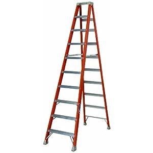 Ladder fs1510 300 pound duty rating fiberglass step ladder 10 feet