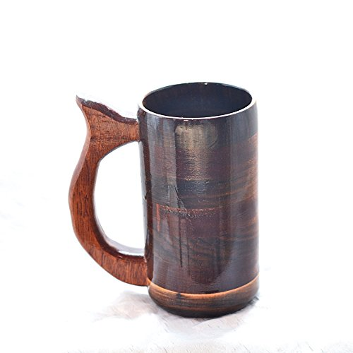 12 OZ Walnut and Mahogany Mug, Wooden Beer Mug, Wood Beer Stein, Wood Coffee Cup, Wooden Tankard, Renaissance Mug, Faire Mug, Groomsmen Gifts (Renaissance Coffee Cups compare prices)