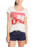 Chiemsee Camiseta Manga Corta Leonita (Blanco / Fucsia)