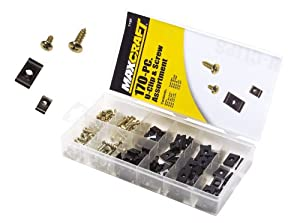 MAXCRAFT 7728 U-Clip and Screw Assortment, 170-Piece