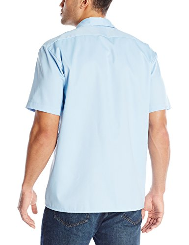 dickies men 39 s short sleeve work shirt light blue large. Black Bedroom Furniture Sets. Home Design Ideas