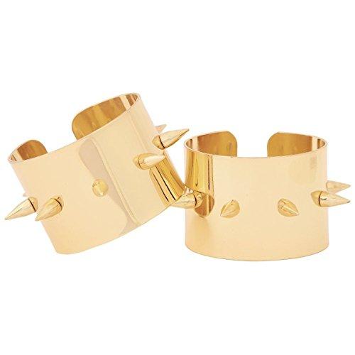 Harley Quinn Gold Spike Cuffs