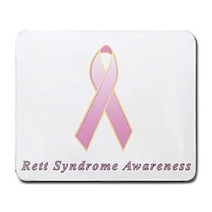 Rett Syndrome Awareness Ribbon Mouse Pad