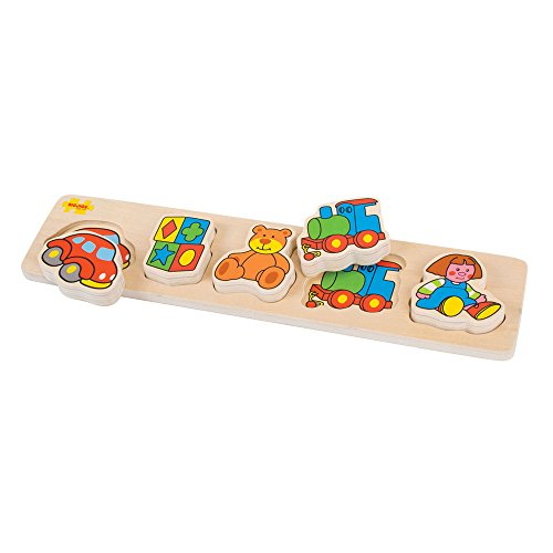 Bigjigs Toys BB017 Chunky Lift and Match Toys Puzzle