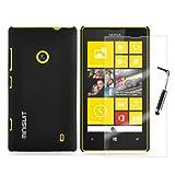 MiniSuit Starter Kit for Nokia Lumia 520 - Hard Snap-On Rubber Case, Screen Protector, Stylus ~ MiniSuit