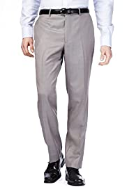 Collezione Exclusive Made in Italy Pure Wool Flat Front Trousers
