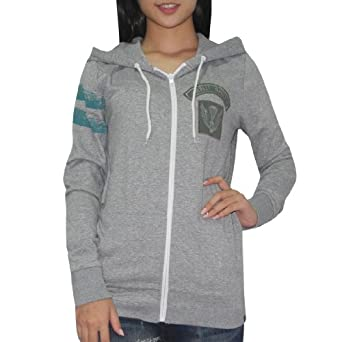 Hurley Damen Warm Surf & Skate Zip-Up Hoodie Sweatshirt Jacke Medium Grau