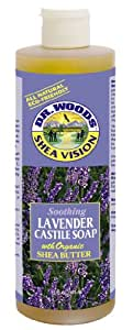 Dr. Woods Shea Vision, Lavender Castile Soap with Shea Butter, 16-Ounce (Pack of 12)