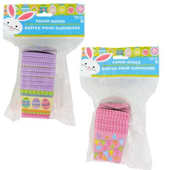 "Easter Inspired Childrens Mini ""Take-Out"" Favor Boxes, 8-ct. Packs (Set of 2) - 1"