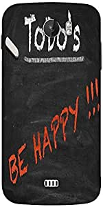 Snoogg Todo Happy Graphic 2803 Designer Protective Back Case Cover For Micromax A110
