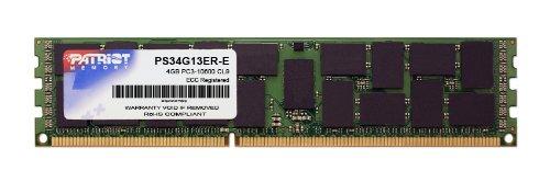 Patriot Signature 4 GB PC3-10600 (1333MHz) DDR3 CL9 ECC Registered DIMM Memory Kit PS34G13ER-E