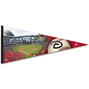 MLB Arizona Diamondbacks 17-by-40 Premium Quality Pennant by WinCraft
