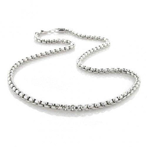 Bling Jewelry Box Link Chain Silver Plated Necklace 16