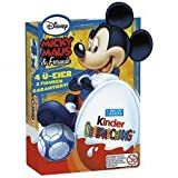 Kinder Chocolate Disney Mickey Mouse chocolate treats- 4 per box-Made in GERMANY-SHIPPING FROM USA
