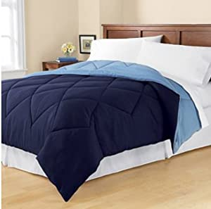 Amazon Com Mainstays Solid Microfiber Bedding Comforter