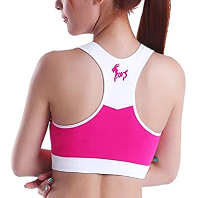 Clothin Women's Racerback Seamless Wirefree Breathable Soft Cup Sports Bra