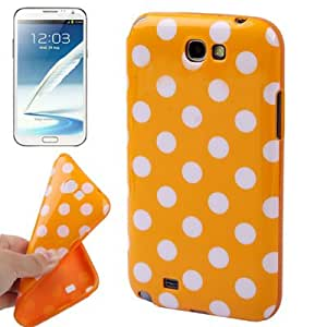 Dot Pattern TPU Case for Samsung Galaxy Note 2 N7100 (Yellow)