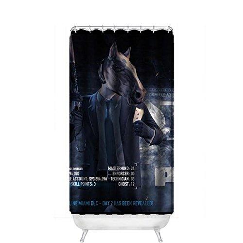 "Hot Kitchen Custom BoJack Horseman Waterproof Soap Resistant Shower Curtain 36"" x 72"""