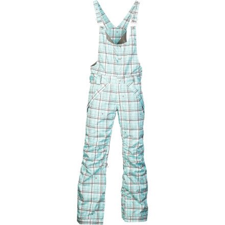 Betty Rides Women's Classic Betty Overall, White/aqua Plaid, Small