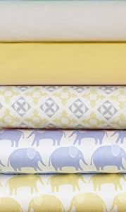 Magnolia Organics Crib Sheet Starlight Blue Elephant)