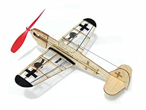 Guillow Guillow's German Fighter Mini Rubber Powered Model Plane [Toy]
