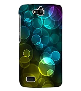 ColourCraft Beautiful Bubbles Design Back Case Cover for HUAWEI HONOR HOLLY