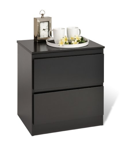 Prepac Espresso Avanti 2 Drawer Nightstand With Lock front-697415