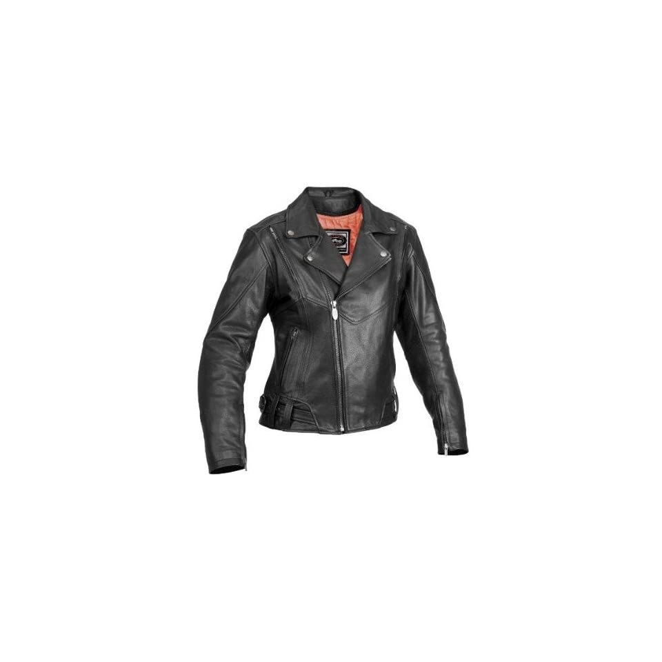 River Road Caliber & Sapphire Black Leather Motorcycle Jacket (Mens & Womens)   Frontiercycle (Free U.S. Shipping) (XL, Womens Sapphire)